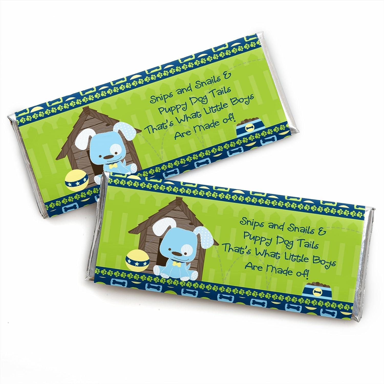 #IDBB157 Puppies Boy Birthday Party Favors Puppies Boy Birthday Party Personalized Candy Bar Wrappers