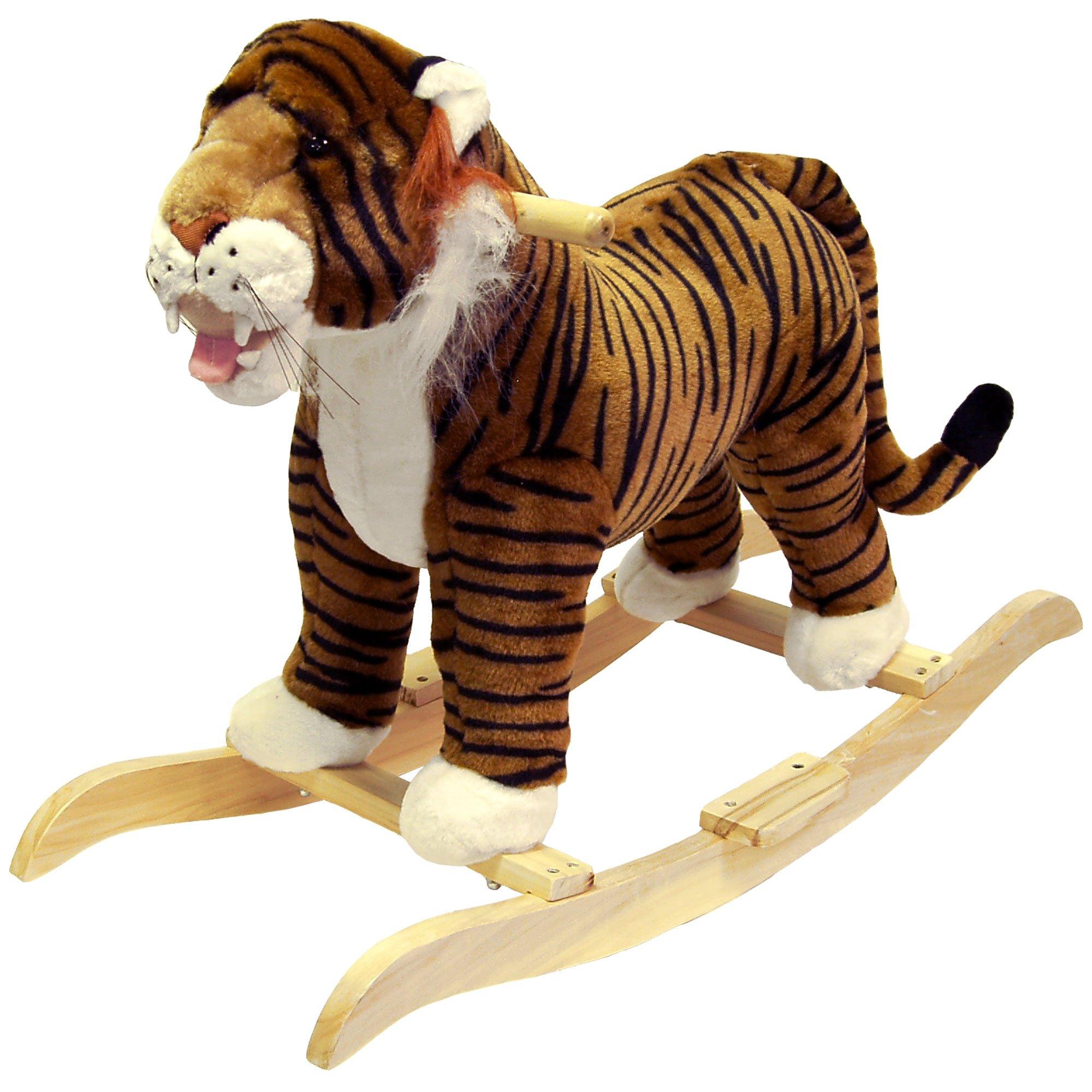 Happy Trails Tiger Plush Rocking Animal Ride On
