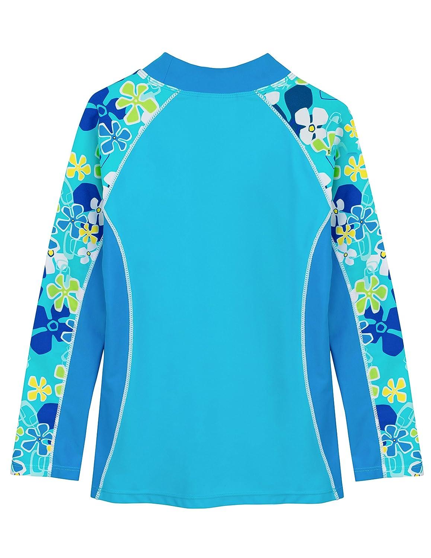 Tuga Girls Two-Piece Long Sleeve Bathing Suit Set 2-14 Years Protection UPF 50