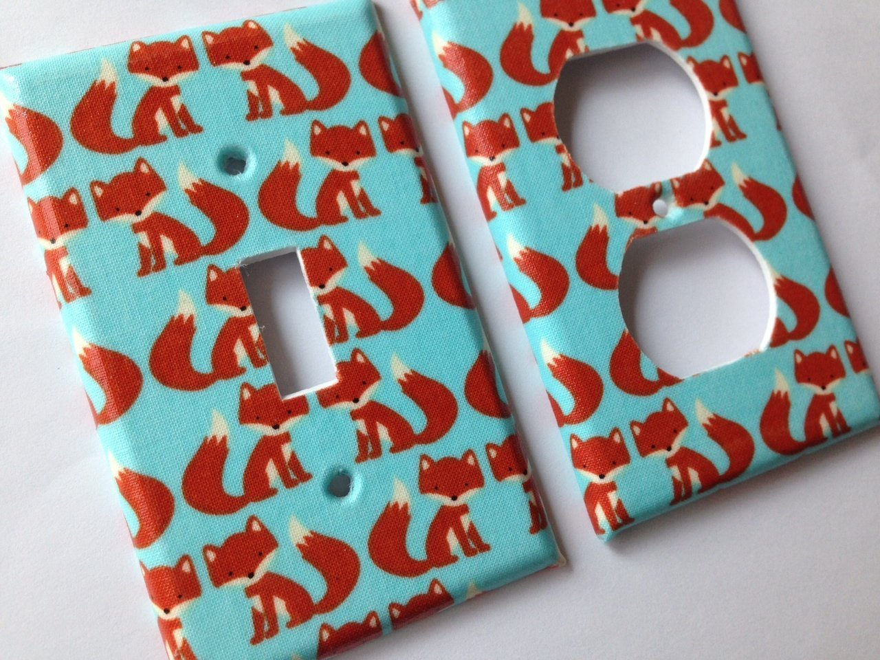 Fox Light Switch Cover - Various Sizes Offered