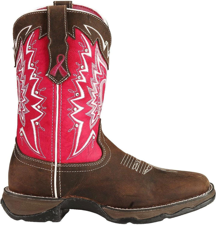 Durango Womens Ribbon Rebel Cowgirl Boot Square Toe Distressed 8.5 M US