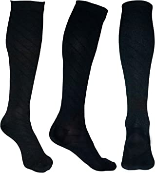 20-30mmHg 2 to 8 Pairs Compression Stockings for Runners Compression Socks for Men /& Women Edema