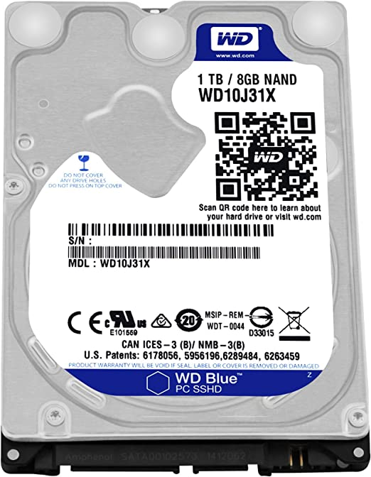 1TB 2.5 Laptop SSHD Solid State Hybrid Drive for HP 3000 Notebook 3105m?3115m?3125
