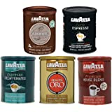 Lavazza Ground Coffee 5 Variety (Pack of 5)