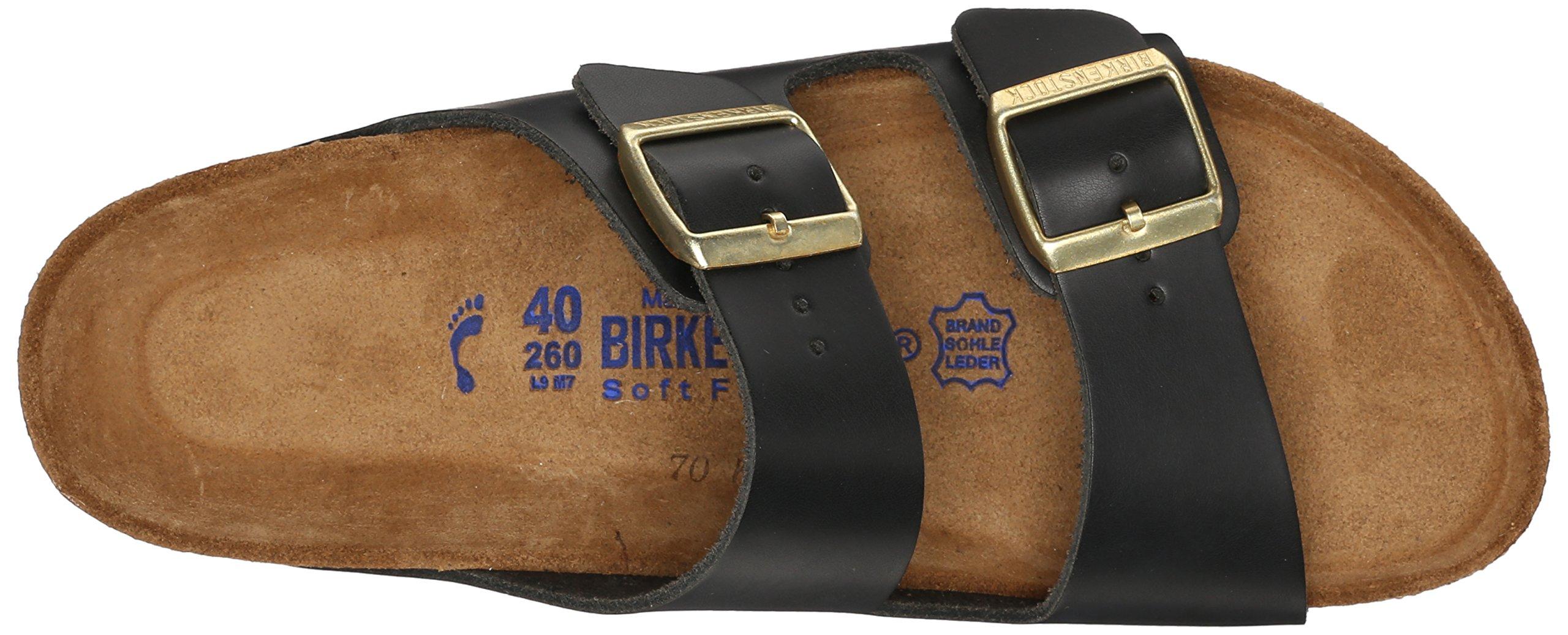 Birkenstock Unisex Arizona Hunter Black Leather Sandals - 9-9.5 2A(N) US Women/7-7.5 2A(N) US Men by Birkenstock (Image #8)