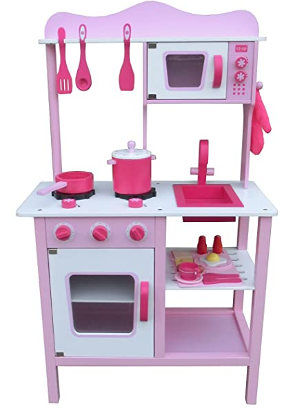 Amazon Com Umey Design Wooden Craft Play Kids Big Kitchen Set With