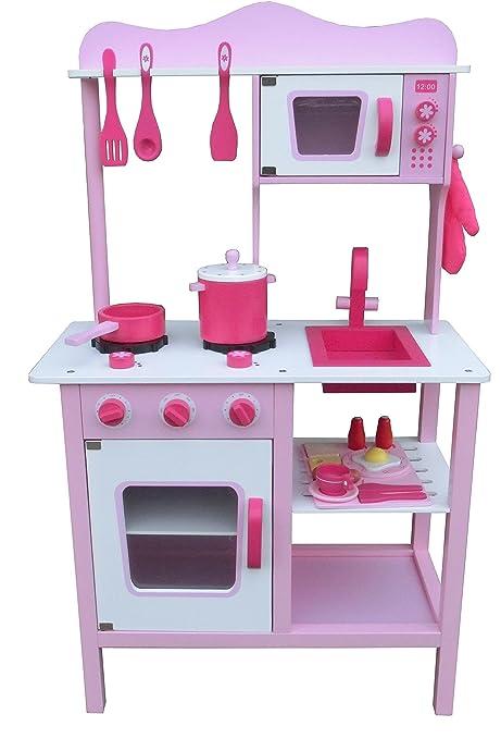 Amazon.com: Wooden Craft Play Kids Big Kitchen Set with ...