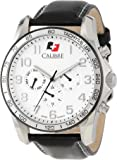 """Calibre Men's SC-4B1-04-001 """"Buffalo"""" Stainless Steel and Leather Watch"""