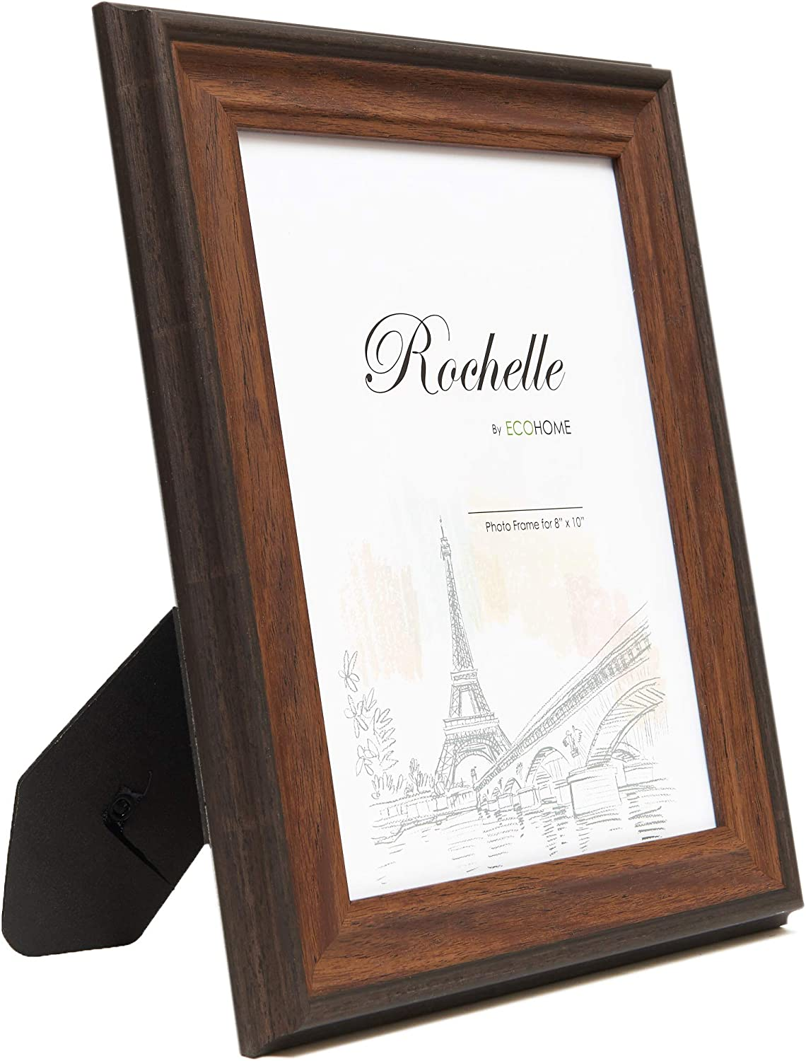 EcoHome 5x7 Picture Frames Brown – for Table Top and Wall Mounting Display
