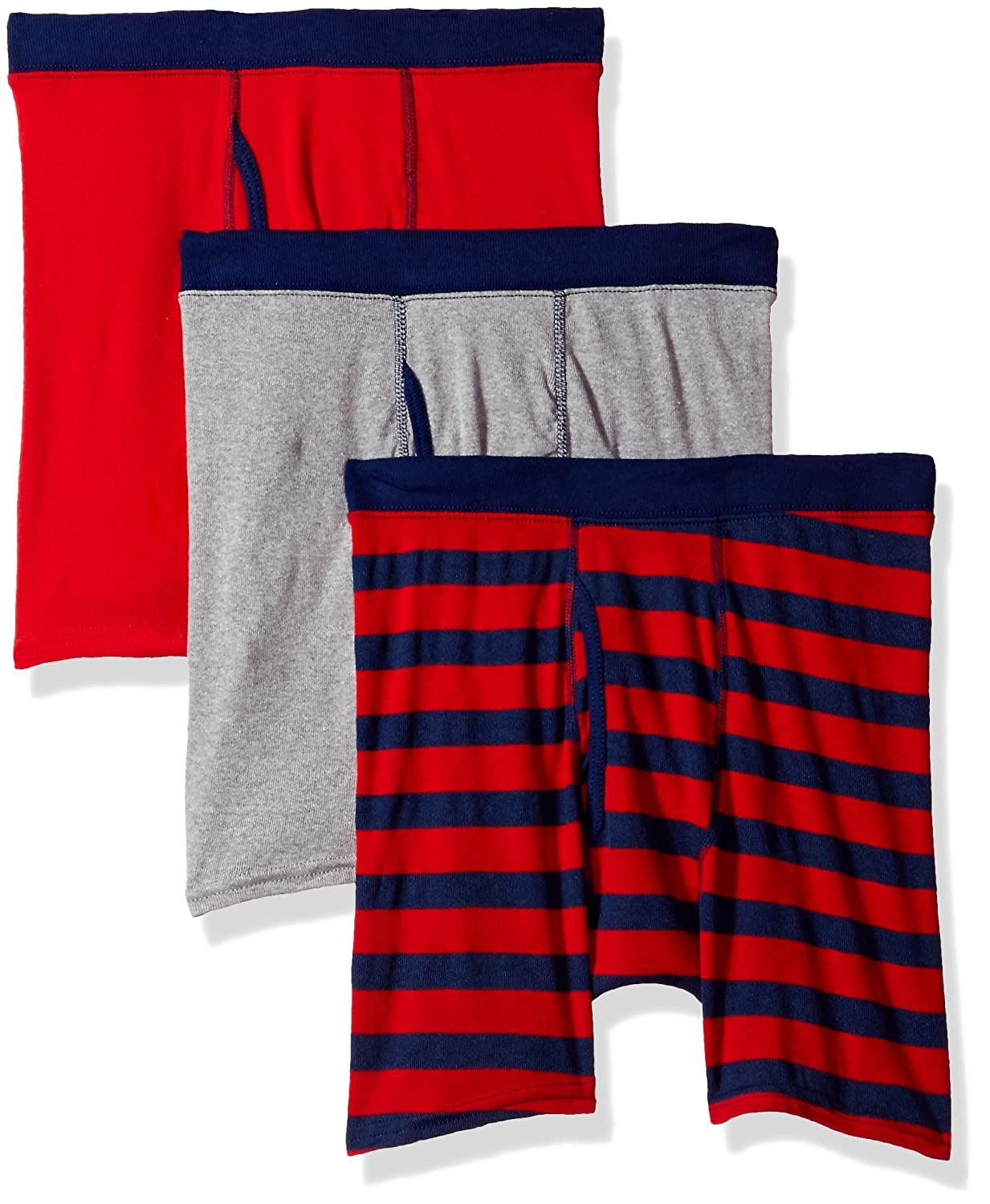 Hanes Big Boys' Comfort Soft Dyed Boxer Brief (Pack of 3) Hanes Boys 8-20 Underwear B755A3