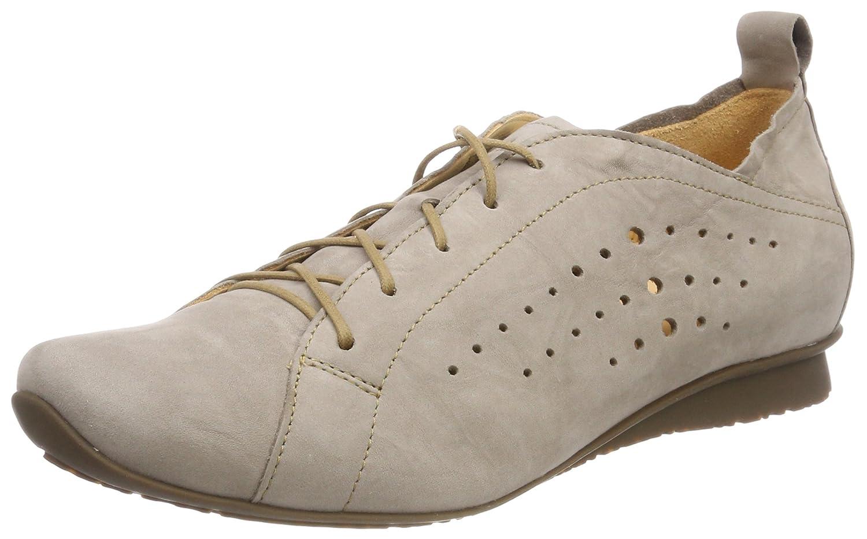Think Chilli_282113, Zapatos de Cordones Brogue para Mujer 39.5 EU|Beige (Macchiato 24)