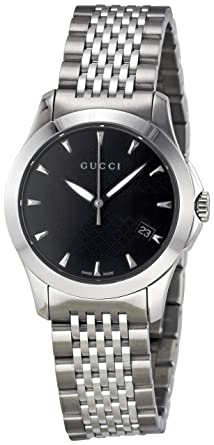 5980d5d1891 Image Unavailable. Image not available for. Color  GUCCI Women s YA126502 G  Timeless Black Dial Watch