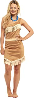 Ladies Pocahontas Indian Princess Fancy Dress Costume  sc 1 st  Amazon UK & Indian Princess - Adult Costume Lady: Med (UK:14-16): Amazon.co.uk ...