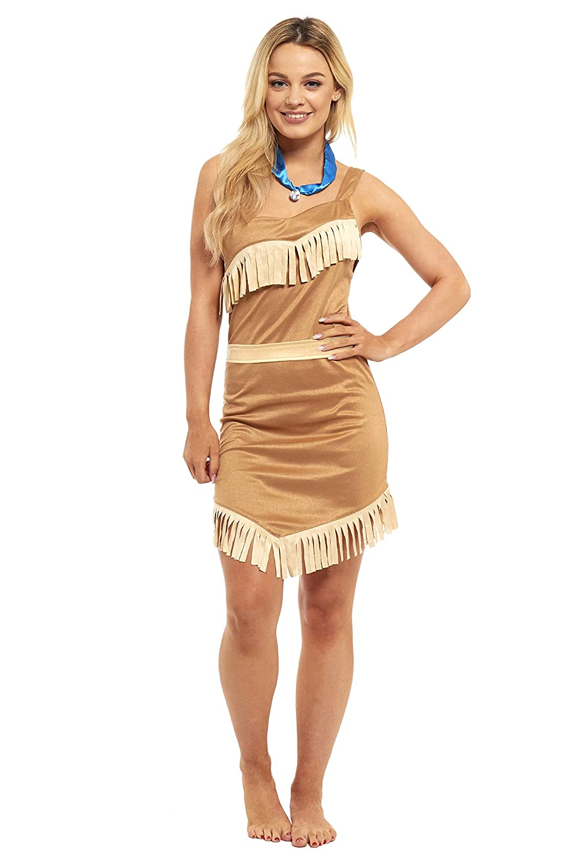 Other Ladies Sexy Pocahontas Indian Princess Halloween Fancy Dress Costume