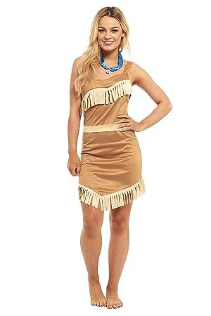 Ladies Pocahontas Indian Princess Fancy Dress Costume  sc 1 st  Amazon UK & Ladies Pocahontas Indian Princess Fancy Dress Costume: Amazon.co.uk ...