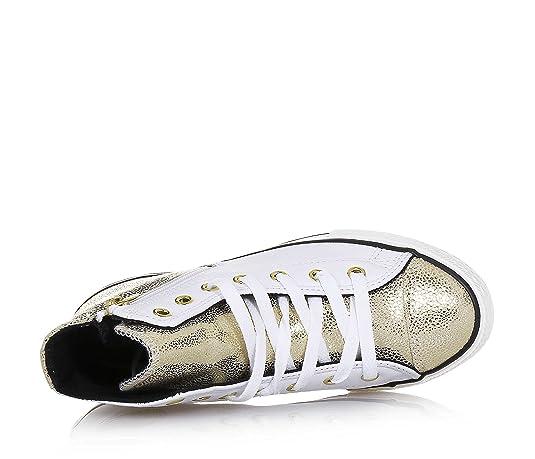 CONVERSE - Sneaker stringata bianca e dorata 6c6192ceea6