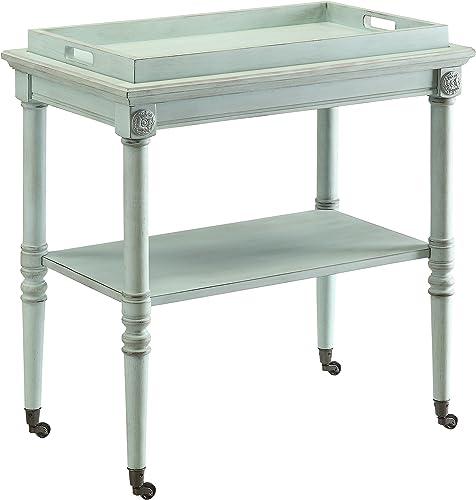 ACME Frisco Antique Green Tray Table