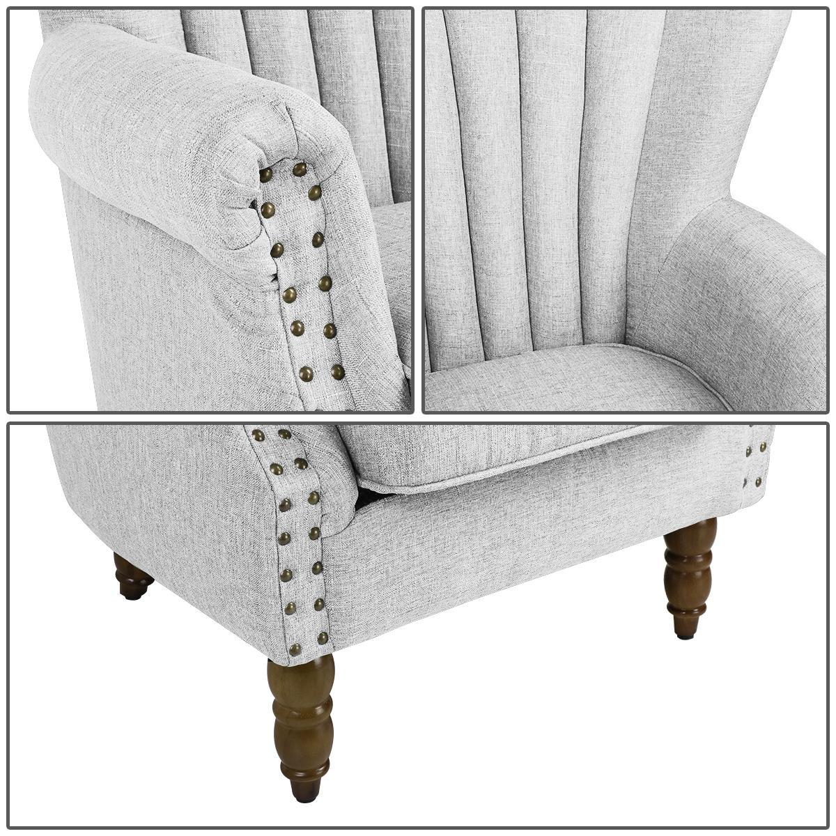 Amazon.com: magshion elegante tela de diseño Tufted silla de ...