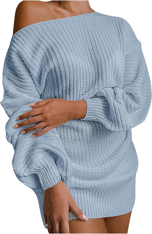 Elecenty Damen Patchwork Strickkleid Frauen England Minikleid Partykleid Etuikleid Sweater Bodycon Stricken Abendkleid Bekleidung