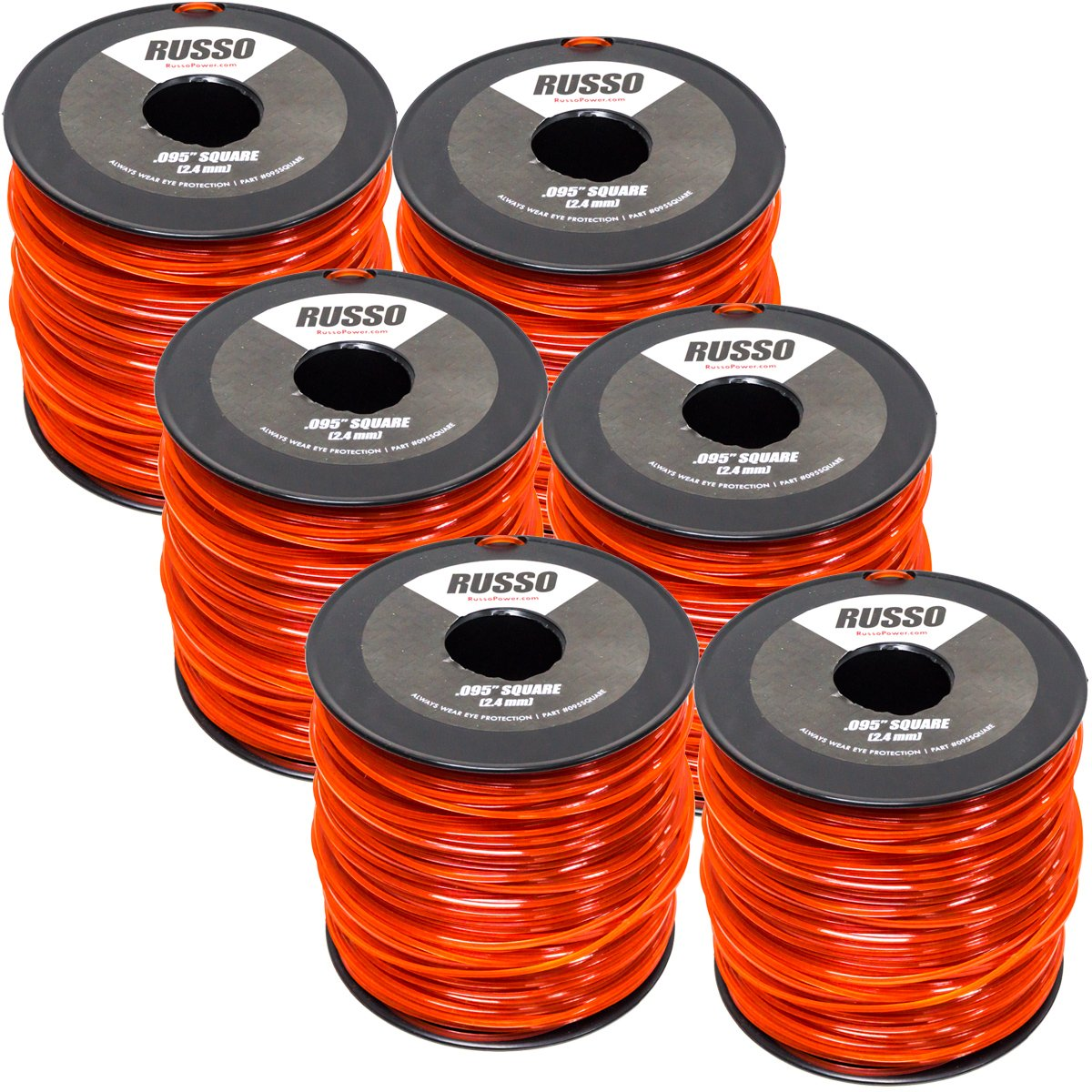 6 Pack 095 Square 5lb Commercial String Trimmer Line Echo Stihl RedMax by Russo