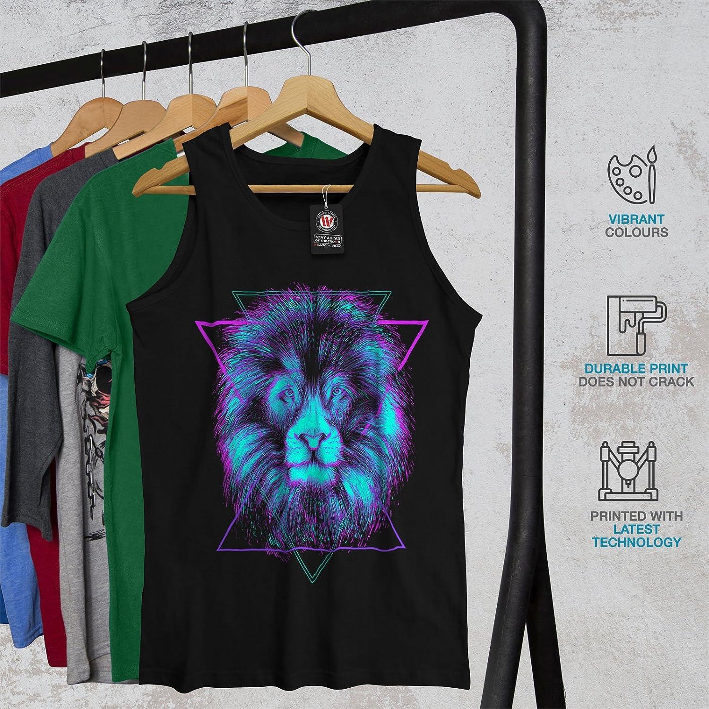 Wellcoda King of Jungle Lion Mens Tank Top Animal Fit Lifestyle Sports Shirt