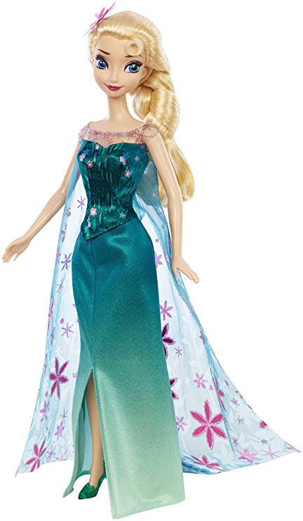 amazon com disney frozen fever birthday party elsa doll