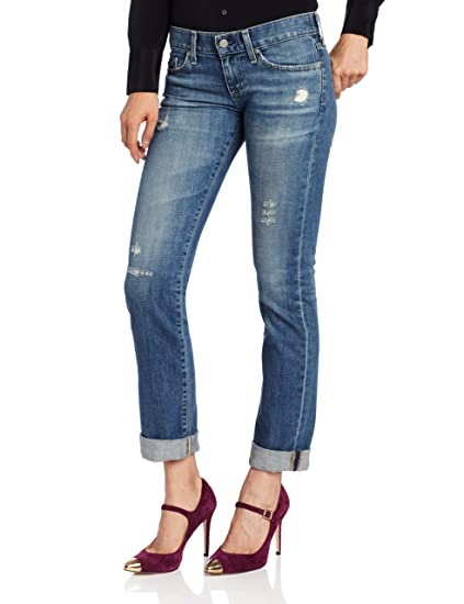 abec35fad81c9 Amazon.com: AG Adriano Goldschmied Women's Tomboy Jean in 17 Year  Salvation, 28: Clothing