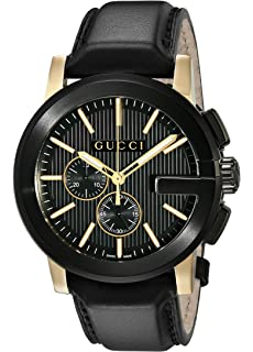 e28802bfa91 Amazon.com  Gucci G - Chrono Collection Analog Display Swiss Quartz ...