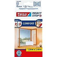 tesa Insect Stop COMFORT Klittenband voor Franse ramen, Hor, verwijderbaar en herbruikbaar, wasbaar, 120 cm x 240 cm…
