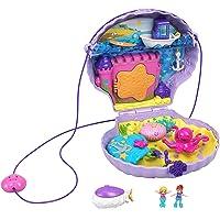 Polly Pocket- Tiny Power Bolso de Mano Concha de Mar con Accesorios, Multicolor (Mattel GNH11)