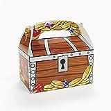 Piraten Schatzkiste Schatztruhe Schatzbox 12 Stück Aus Pappe Für Mitgebsel  Und Give Aways Palandi®