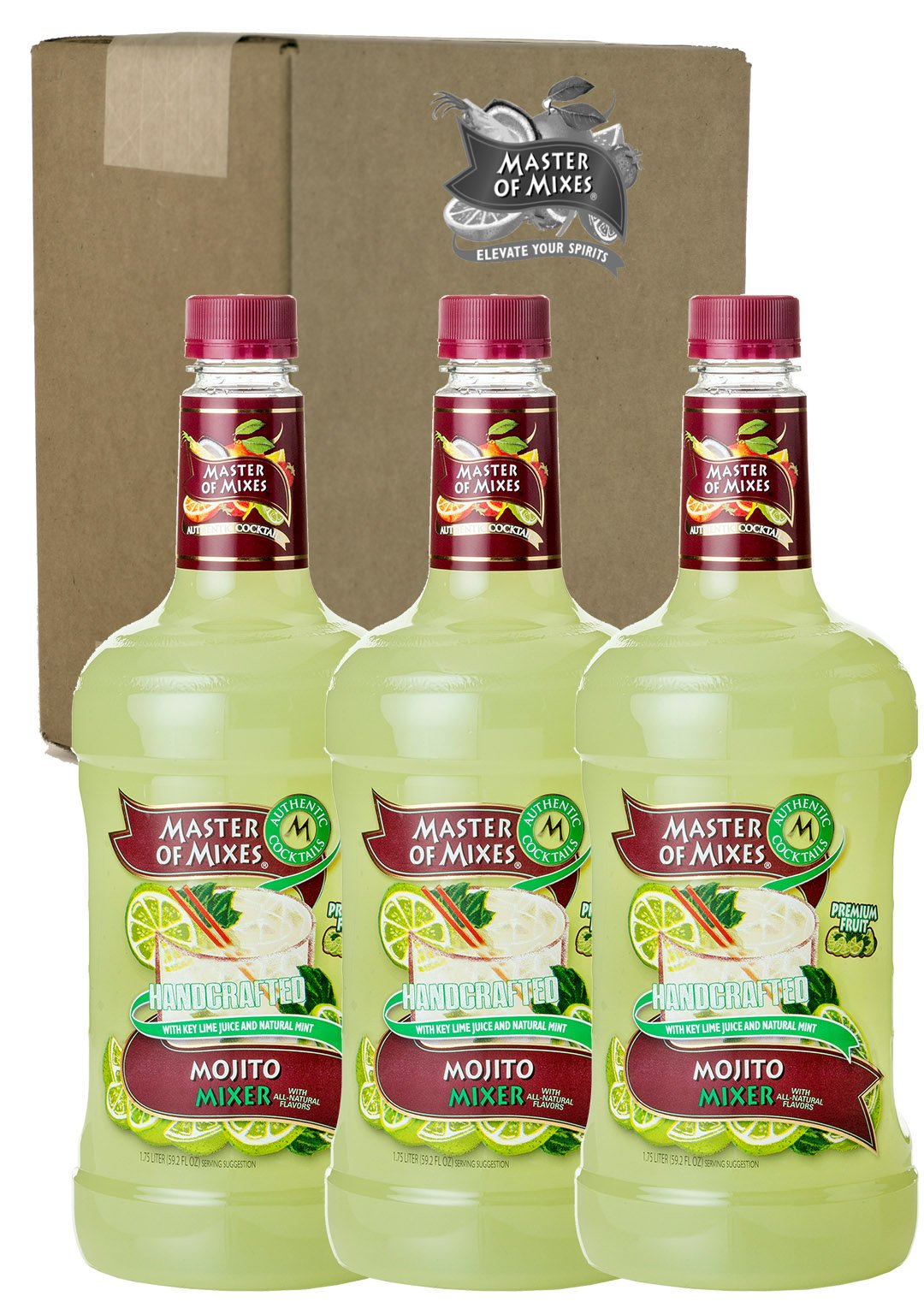Master of Mixes Mojito Drink Mix, Ready To Use, 1.75 Liter Bottle (59.2 Fl Oz), Pack of 3 by Master of Mixes