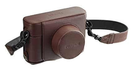 Fujifilm Bottom Leather Case for X100F, Brown (LC-X100F BW)