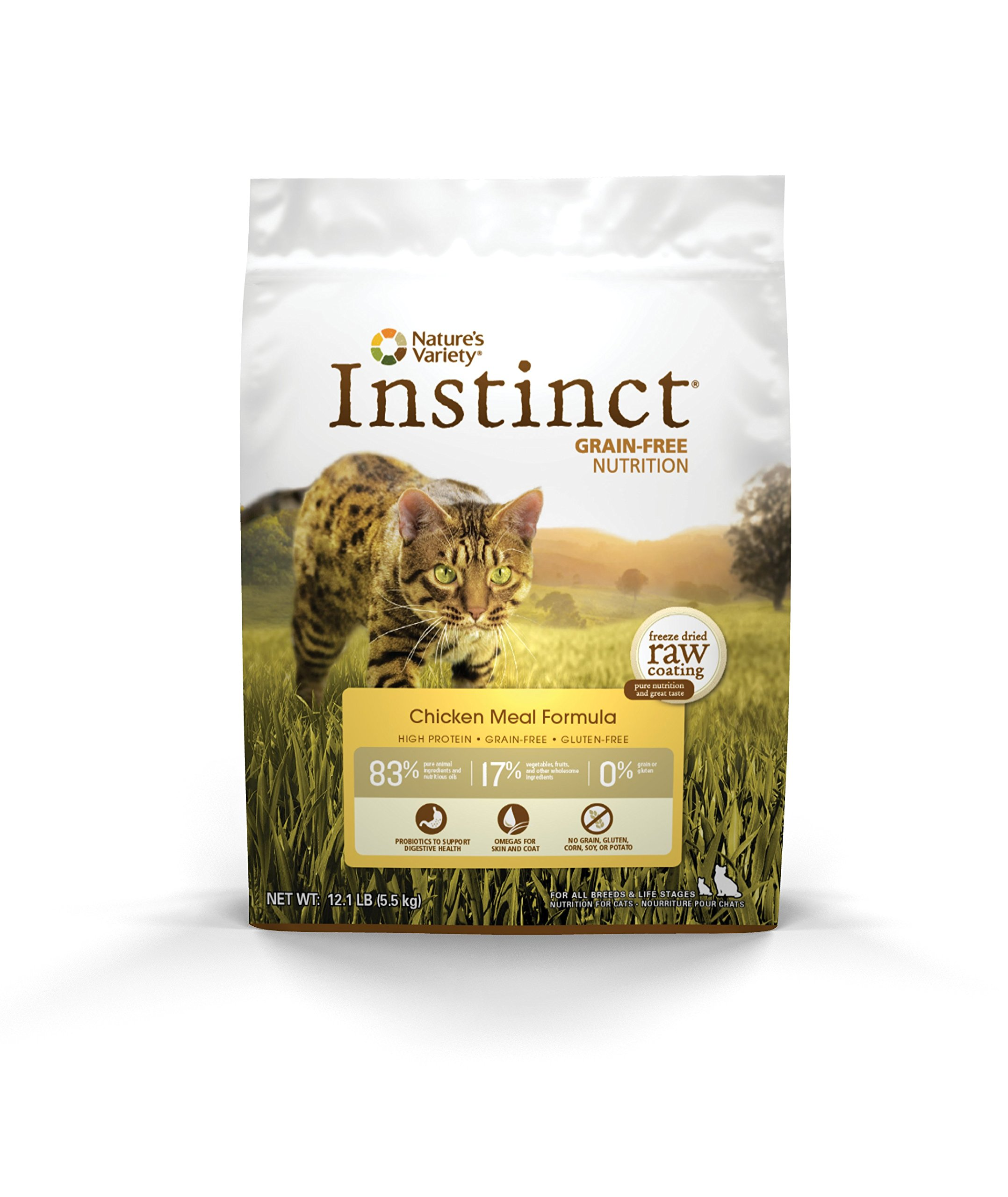 Nature'S Variety Instinct Original Grain Free Chicken Meal Formula Natural Dry Cat Food By, 12.1 Lb. Bag by Nature's Variety