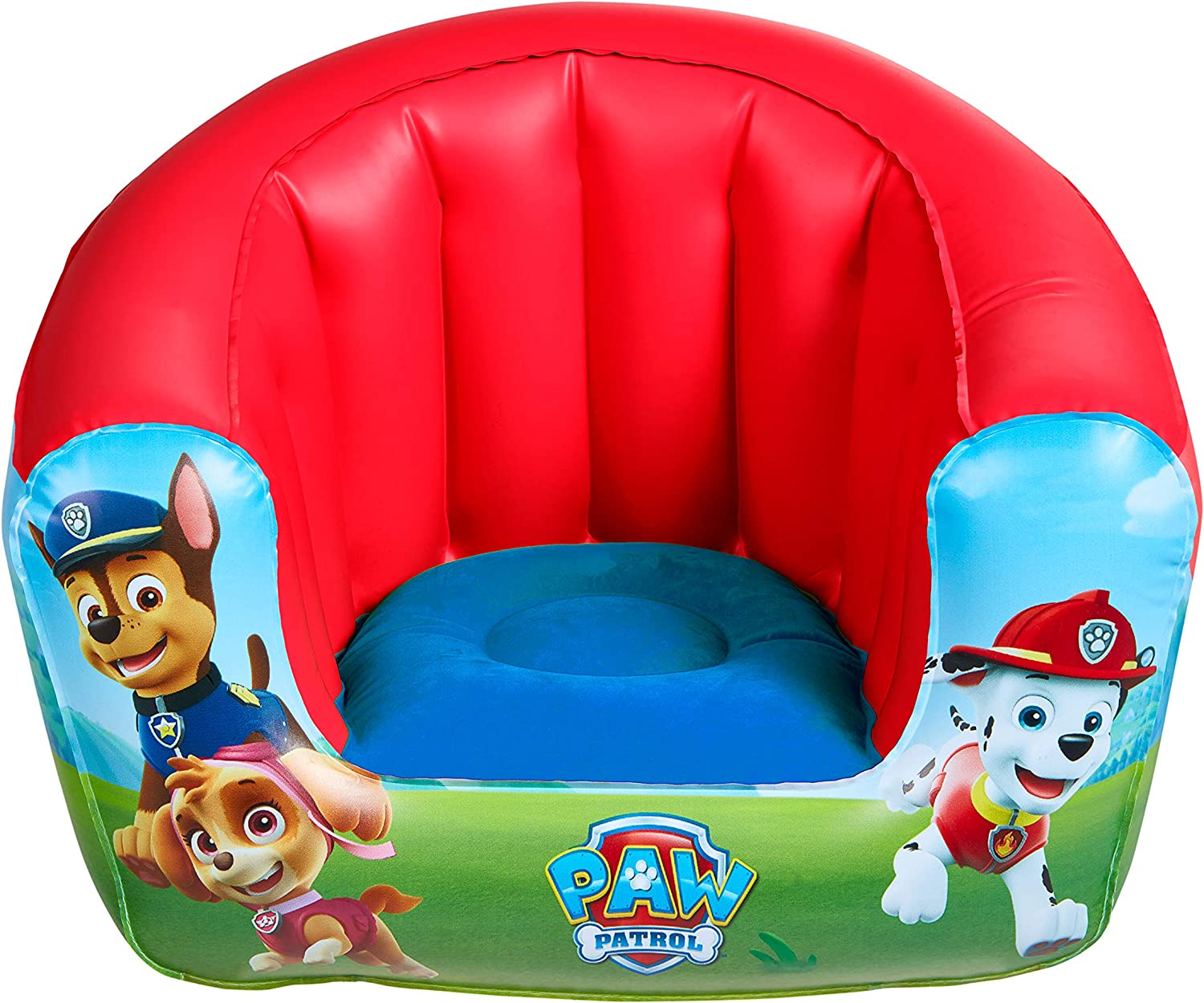 Sillón Hinchable Infantil, PAW PATROL – Color Blue/Red (Worlds Apart 282PPW)