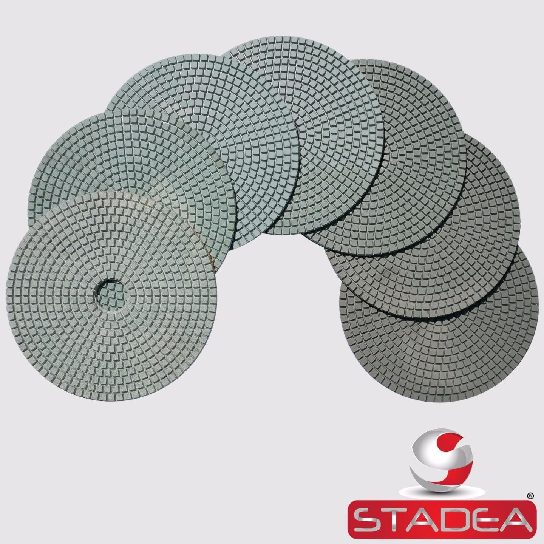 Stadea PPW268B 7'' Diamond Polishing Pads Set For Concrete Marble Stones Terrazzo Granite Floor Polishing