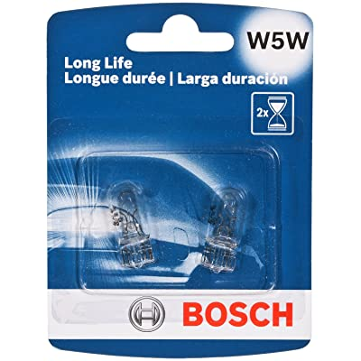Bosch W5W Long Life Upgrade Minature Bulb, Pack of 2: Automotive
