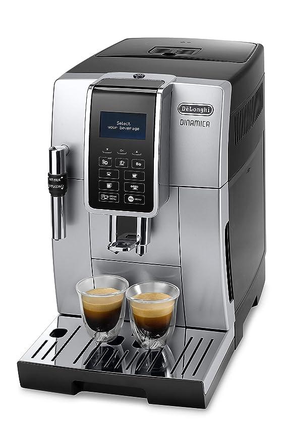 DeLonghi DINAMICA ECAM 350.35.SB Cafetera Independiente, totalmente automática, pantalla LCD y botones táctiles, 1450 W, 15 bares, Negro/ Plata