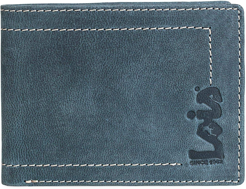 Llavero de Piel Genuina Color Tan Peque/ño Cl/ásico Protecci/ón RFID 201459 Lois Monedero de Cuero Monedas Llaves Billetes Tarjetas dni