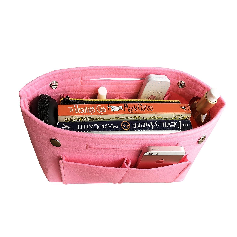 Beige APSOONSELL Bag in Bag Organizadores De Bolsos De Mujer Mediano Fieltro