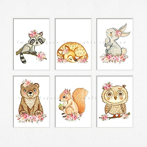 graphic about Printable Woodland Animals titled : Printable woodland nursery artwork Woman nursery