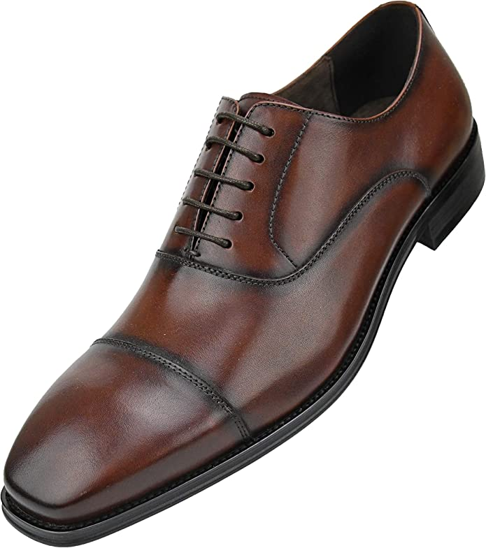 Asher Green Men/'s Genuine Leather Oxford w// Croco Embossed Cap Toe AG3077