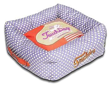 touchdog Polka-Striped Polo fácil de Lavar, Moda Perro Cama: Amazon.es: Productos para mascotas