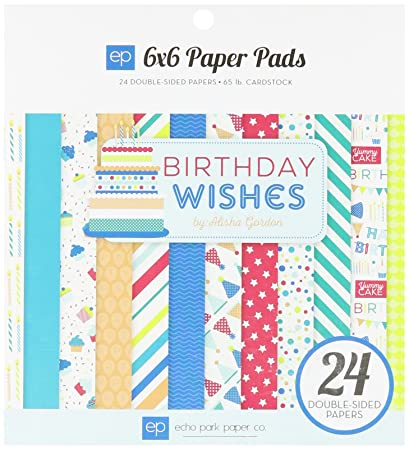 amazon com echo park paper company birthday wishes boy paper pad