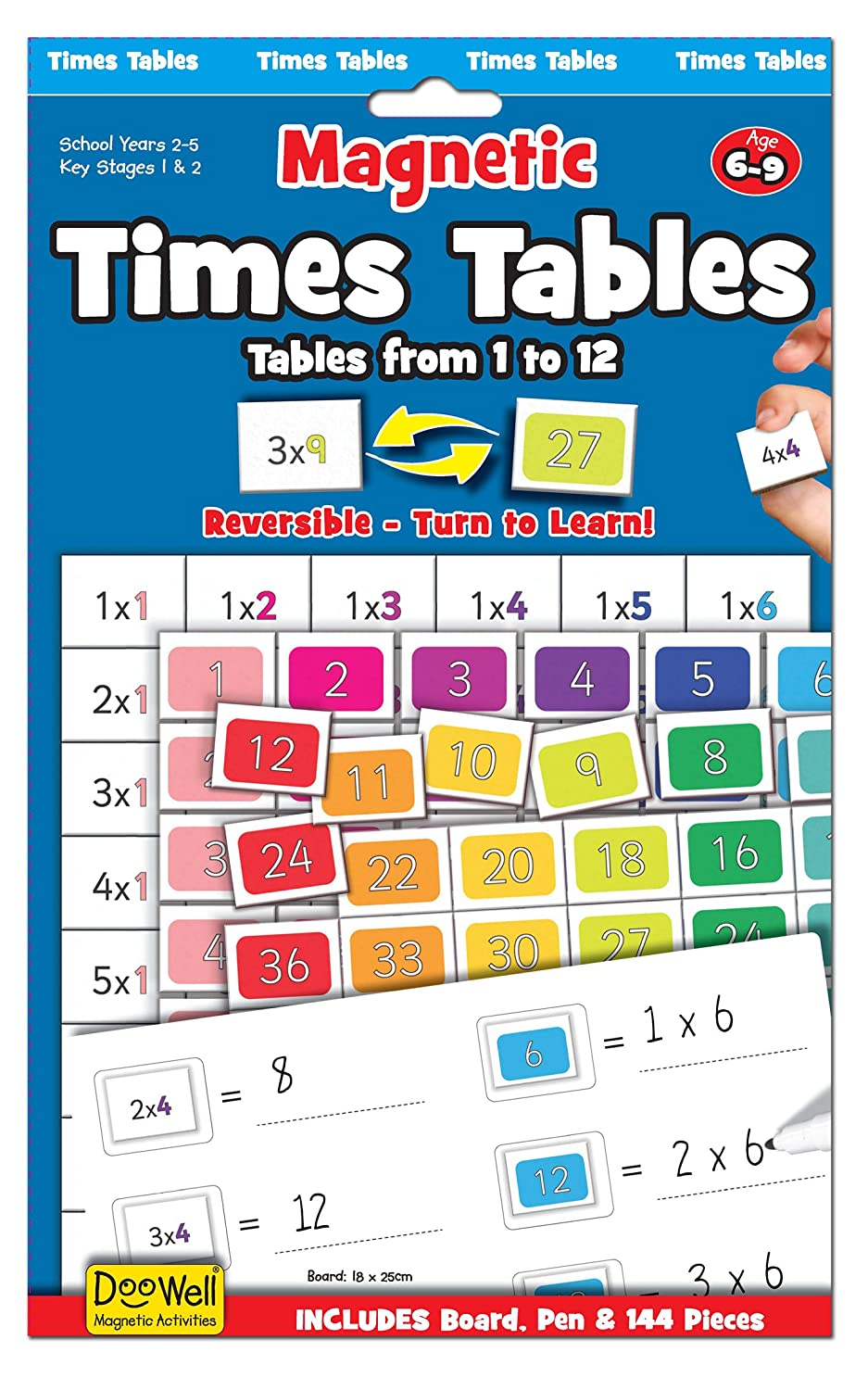 Times tables magnetic activity chart amazon toys games gamestrikefo Images
