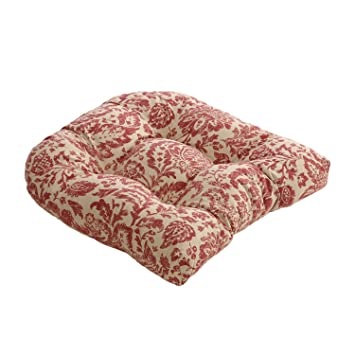 Amazon.com: Almohada Perfect Red/Tan Damask – Cojín para ...
