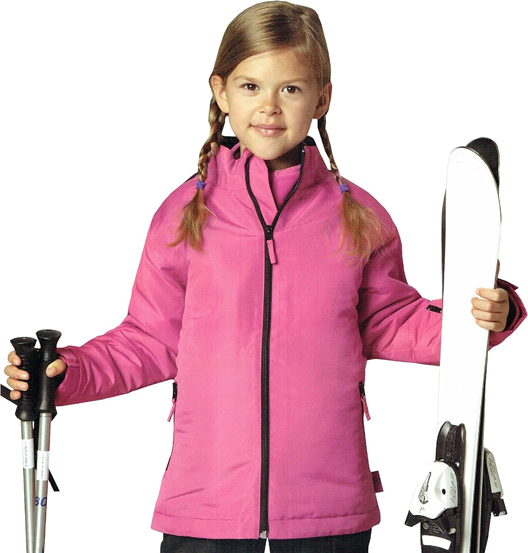 110//116 und wasserabweisend M/ädchen Bionic Finish Eco Oeko Tex rosa Kinder Skijacke Snowboardjacke Jacke Winterjacke Wind