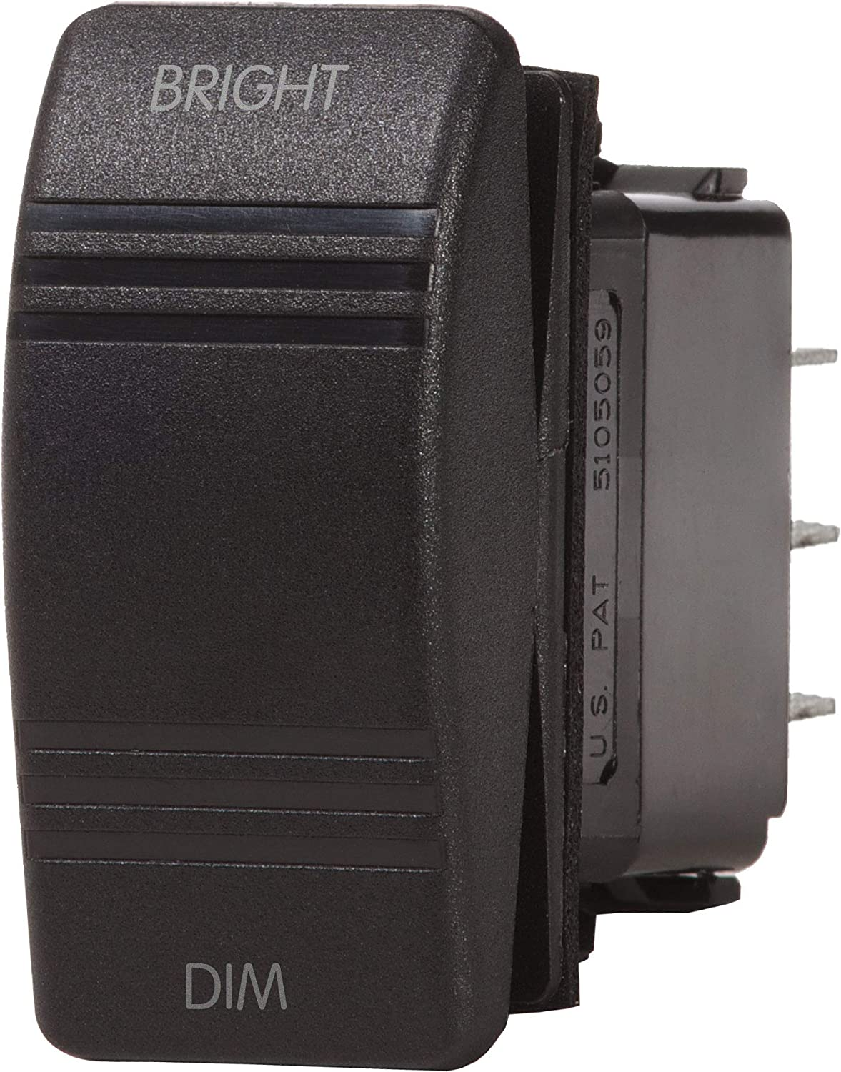 Blue Sea Systems Contura Dimmer Control (ON)-Off-(ON) SPDT Switch, Black