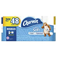 Charmin Ultra Soft Toilet Paper 24 Double Rolls, 142 sheets per roll (packaging may vary)