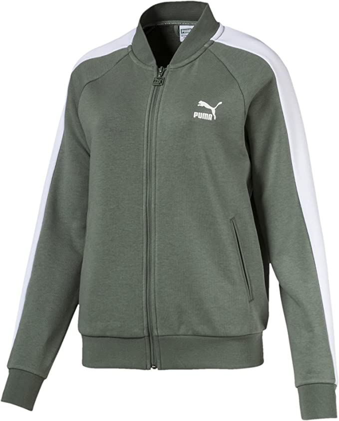 TALLA M. PUMA Classics T7 Track Jacket, FT Chaqueta, Mujer, Laurel Wreath, Small
